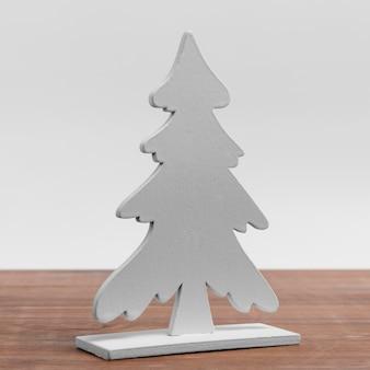 Vooraanzicht van eenvoudig kerstboomornament