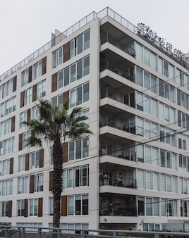 Vooraanzicht van flatgebouwen in lima, peru