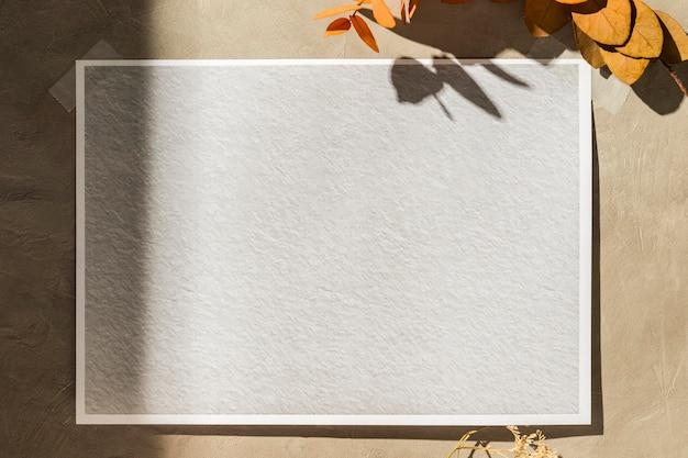 Vooraanzicht van herfst moodboard concept
