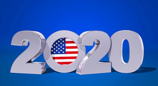 Vooraanzicht van het concept van de amerikaanse verkiezingen
