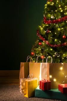 Vooraanzicht van het concept van de kerstgift