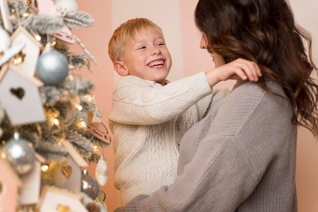 Vooraanzicht van mooi kerstconcept
