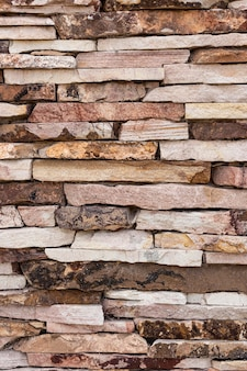 Vooraanzicht van muur met rotsen