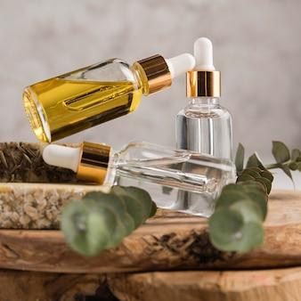 Vooraanzicht van natuurlijke cosmetica concept