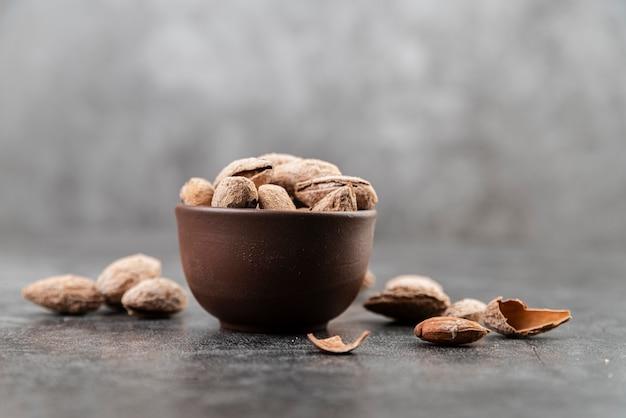Vooraanzicht van noten regeling