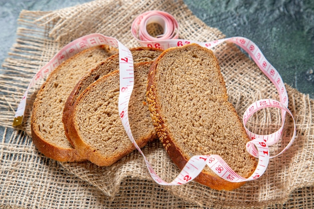 Vooraanzicht vers brood