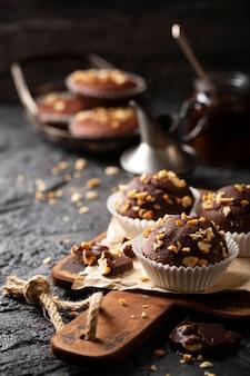 Vooraanzicht zoete bakkerij arrangement