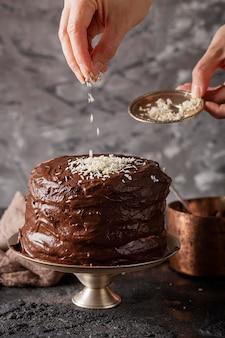 Vooraanzicht zoete bakkerij zoetigheden samenstelling