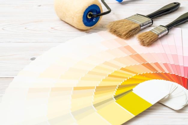 Voorbeeld kleurencatalogus of kleurstalen boek