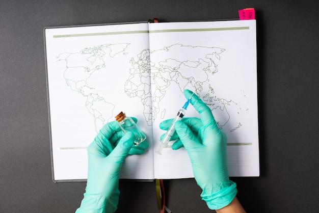 Voorbereiding op vaccinatie van de wereld in 2021 jaar