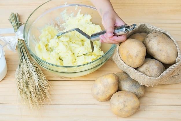Voorbereiding van aardappelpuree