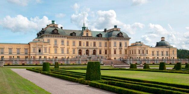Voorgevel van het drottningholm-paleis, drottningholm, stockholm, zweden