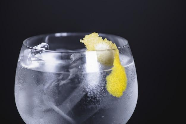Voorgrond van cocktail