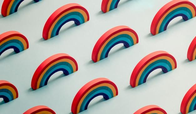 Vooruitgang trots vlag regenboog kleuren achtergrondpatroon. lgbt progress pride-vlag die inclusie en progressie vertegenwoordigt