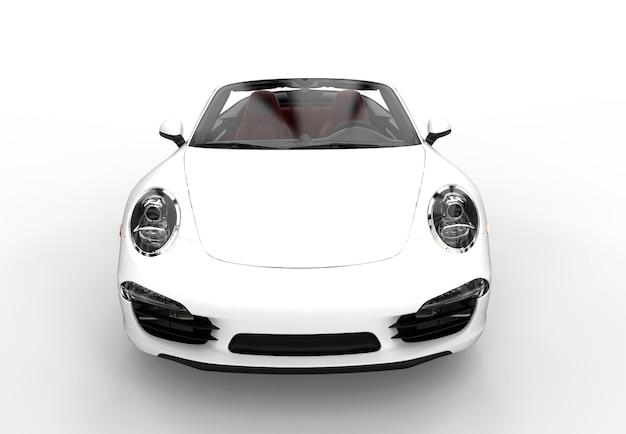 Voorzijde van een generieke witte sportwagen