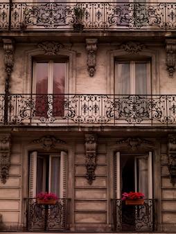 Voorzijde van het gebouw in parijs frankrijk