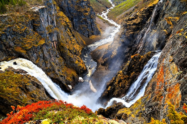 Voringfossen, noorwegen, de grootste waterval van het land
