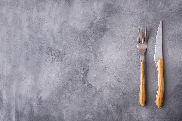 Vork en mes kopie spce. bovenaanzicht
