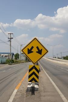Vork in het verkeersbord