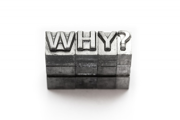 Vraag metalen woord waarom boekdruk