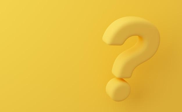 Vraagteken op gele achtergrond