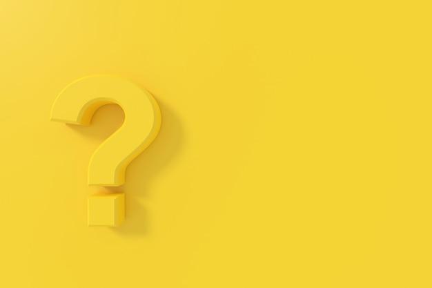 Vraagteken teken banner 3d-rendering