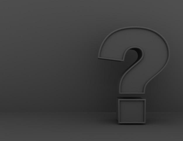 Vraagtekenconcept. 3d-gerenderde afbeelding