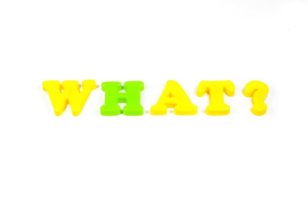 Vragen, antwoorden op een heldere witte achtergrond.