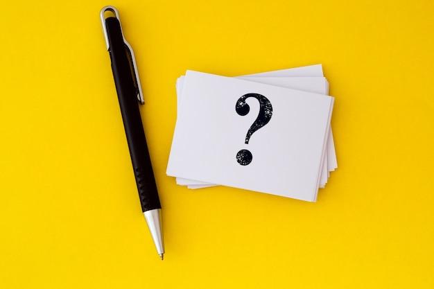 Vragen en antwoorden of q & a conceptontwerp