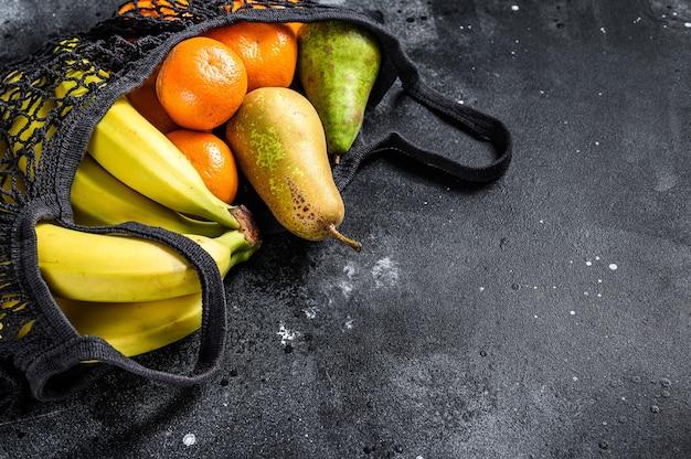 Vriendelijke eco herbruikbare zak met fruit