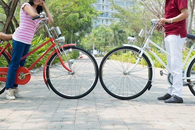 Vrienden met fiets