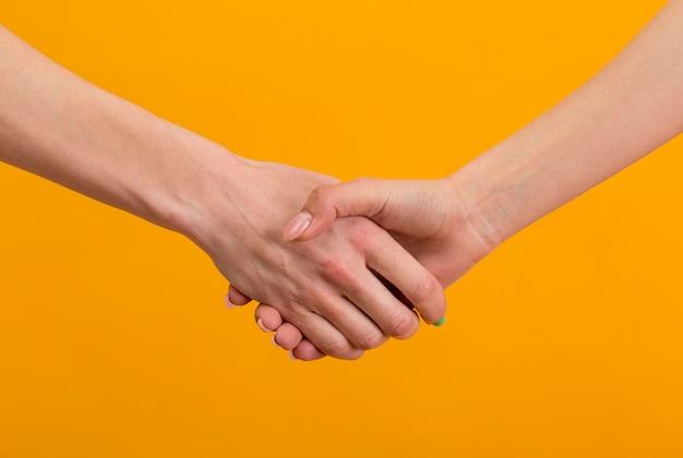 Vriendschapsdag handen samenstelling