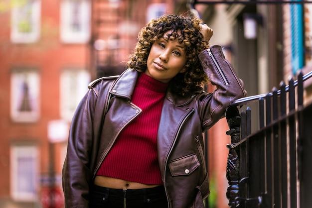 Vrij afro-amerikaanse meisje in new york