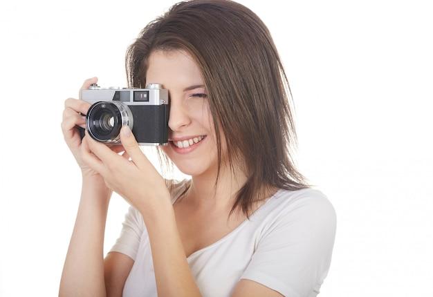 Vrij vrouwelijke fotograaf
