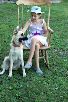 Vrije tijd met haar hond