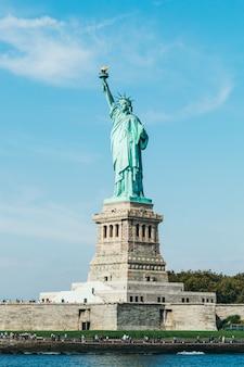 Vrijheidsbeeld in new york city (vs)