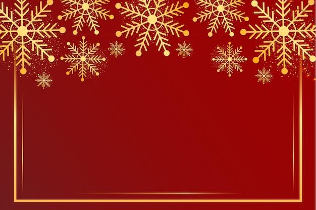 Vrolijk kerstfeest achtergrond met snowflake frame