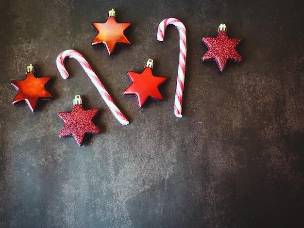 Vrolijk kerstfeest, snoepjes met kopie ruimte