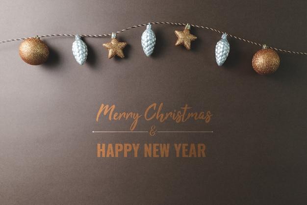 Vrolijke chrismas en gelukkig nieuwjaarsamenstelling