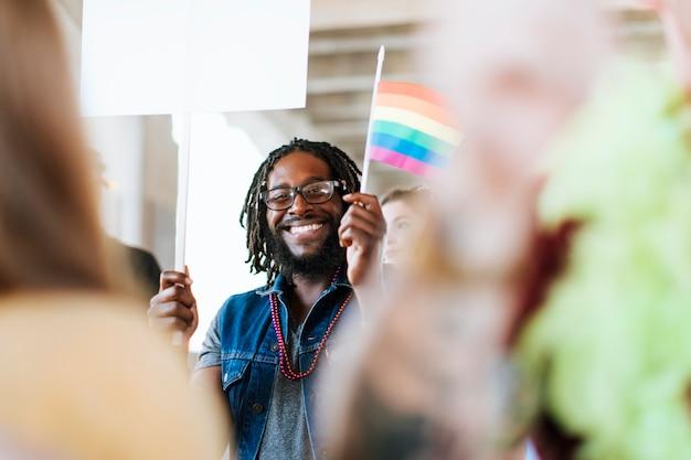 Vrolijke gay pride en lgbt festival
