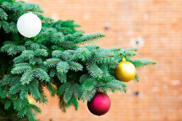Vrolijke kerstmis en gelukkig nieuwjaar concept