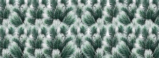 Vrolijke kerstmis en nieuwjaar groene dennenboom spar takken decoratieve compositie
