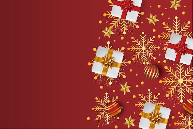 Vrolijke kerstmisachtergrond met 3d-geschenken