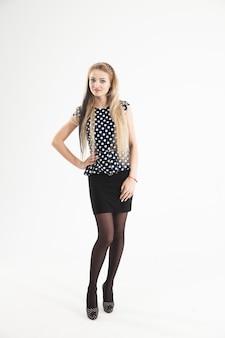 Vrouw - administrateur in een stijlvol pak