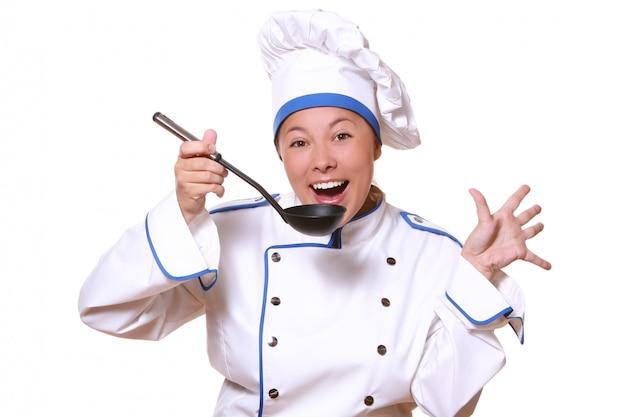 Vrouw chef kok