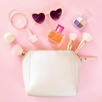 Vrouw cosmetische producten