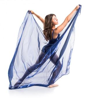 Vrouw dansende ballet
