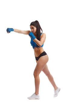 Vrouw die een punch