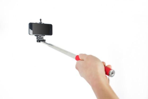 Vrouw die een selfie neemt