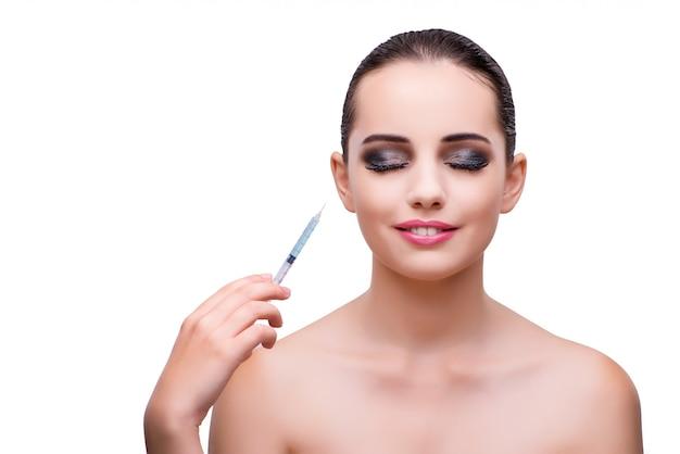 Vrouw die plastische chirurgie ondergaat